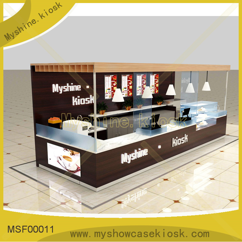 Shopping mall High end food kiosk for coffee booth