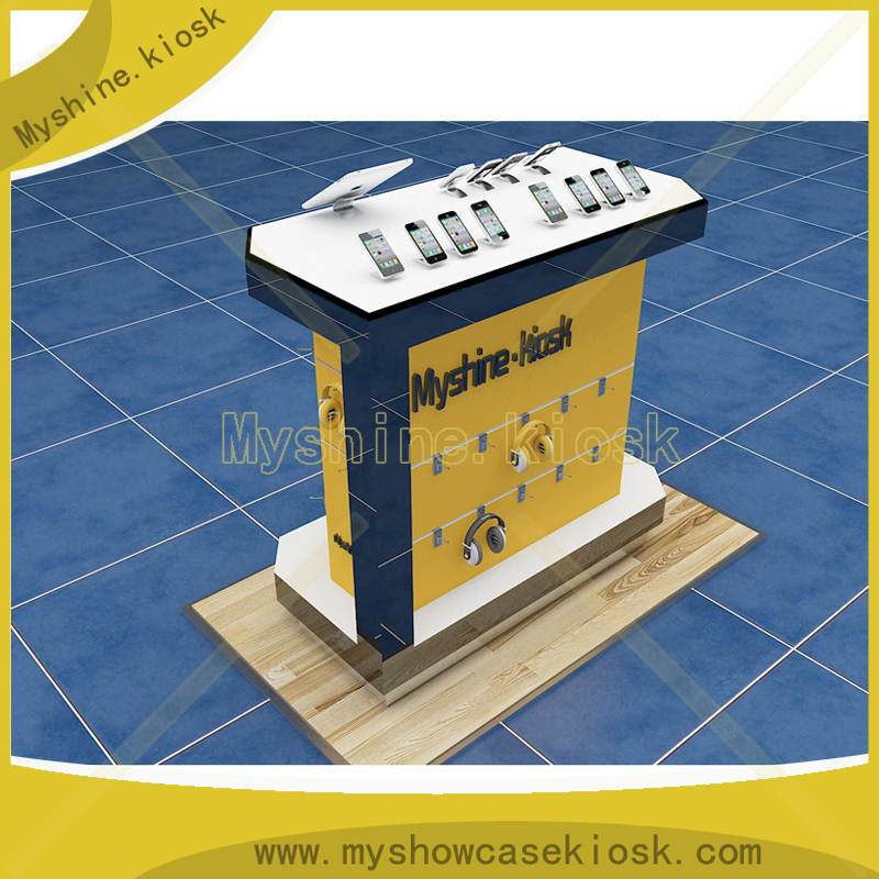 Modern Decoration Design Cell Phone Store Fixtures Displays