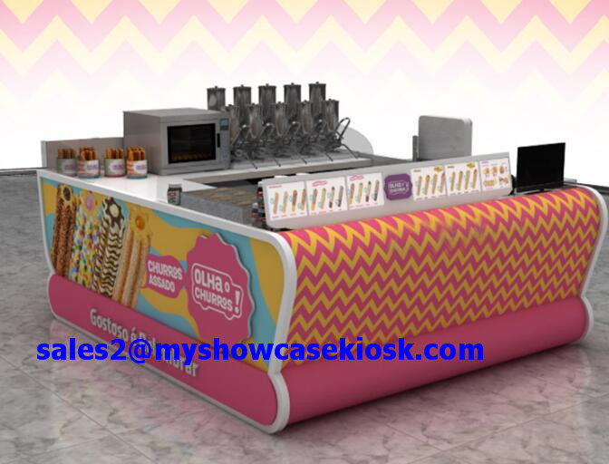 Wooden customized churros kiosk for sale
